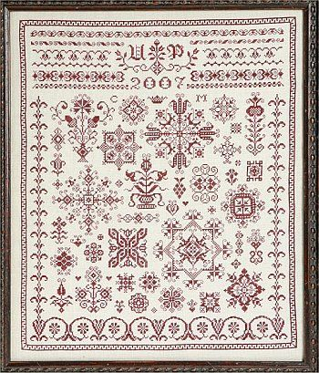 18th century cross stitch | ... sampler cross stitch pattern 123stitch com samplers cross stitch it