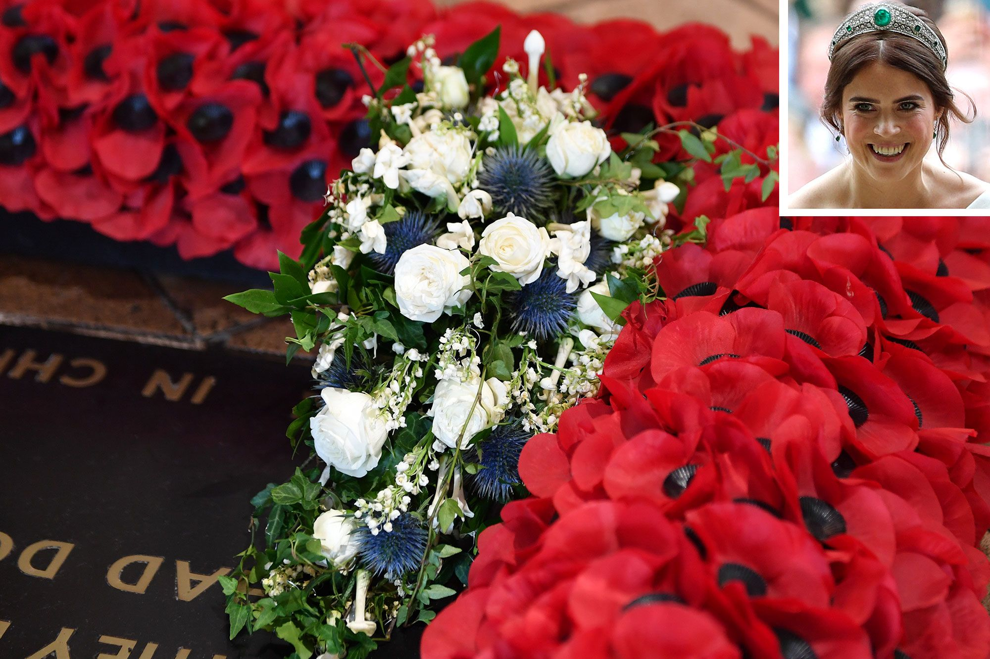 Princess Eugenie S Wedding Bouquet Placed On The Grave Of The