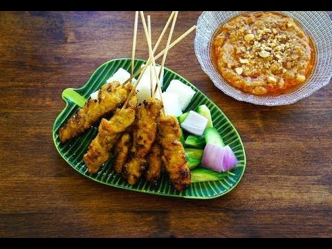 How to make chicken satay youtube grilling pinterest today i have a flavorful juicy malaysian chicken satay recipe for you it just isnt satay if you dont have some peanut sauce so ill forumfinder Choice Image
