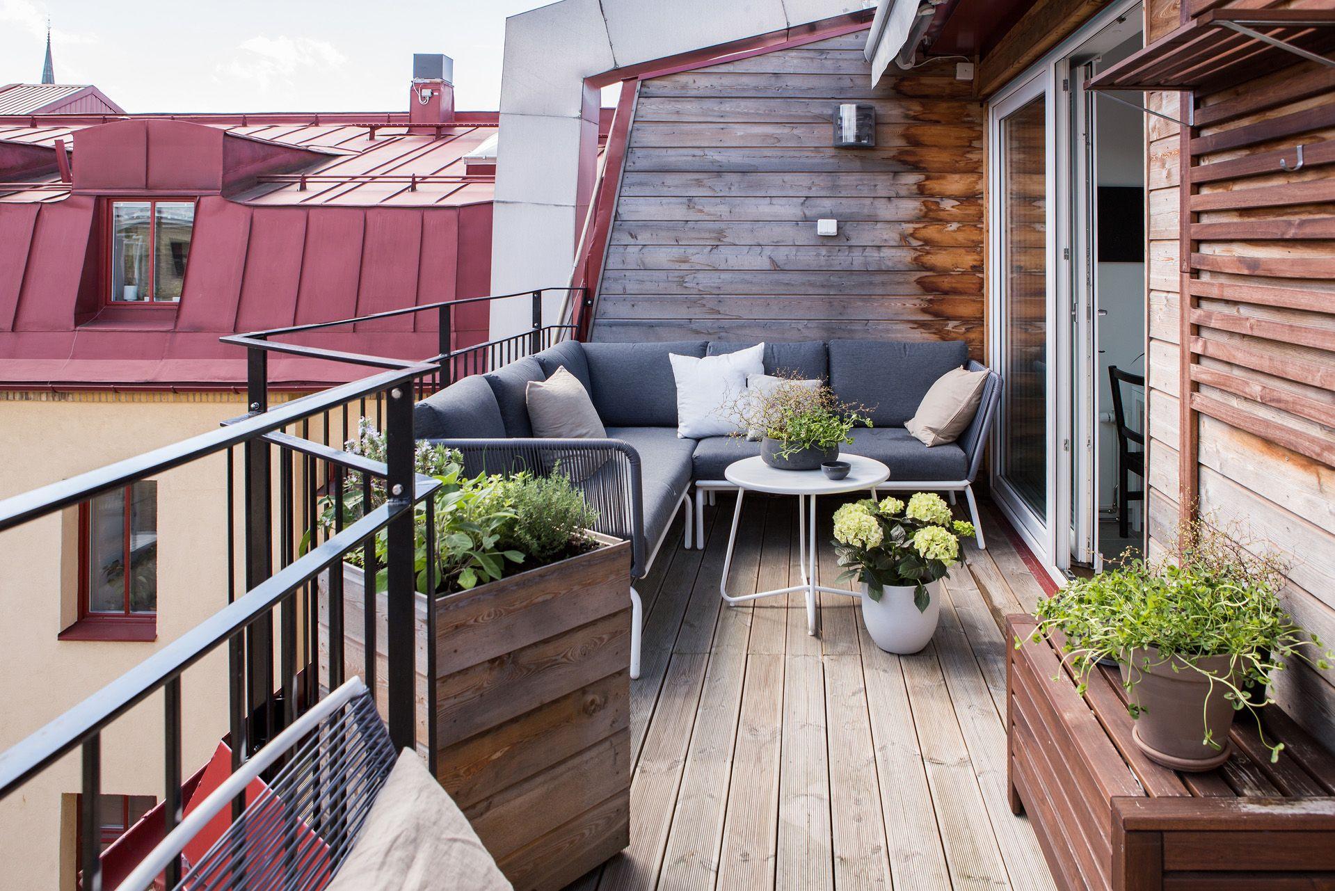 Bohemian Balkon Inrichting : Zonnig ruim balkon terras van m balk balcony