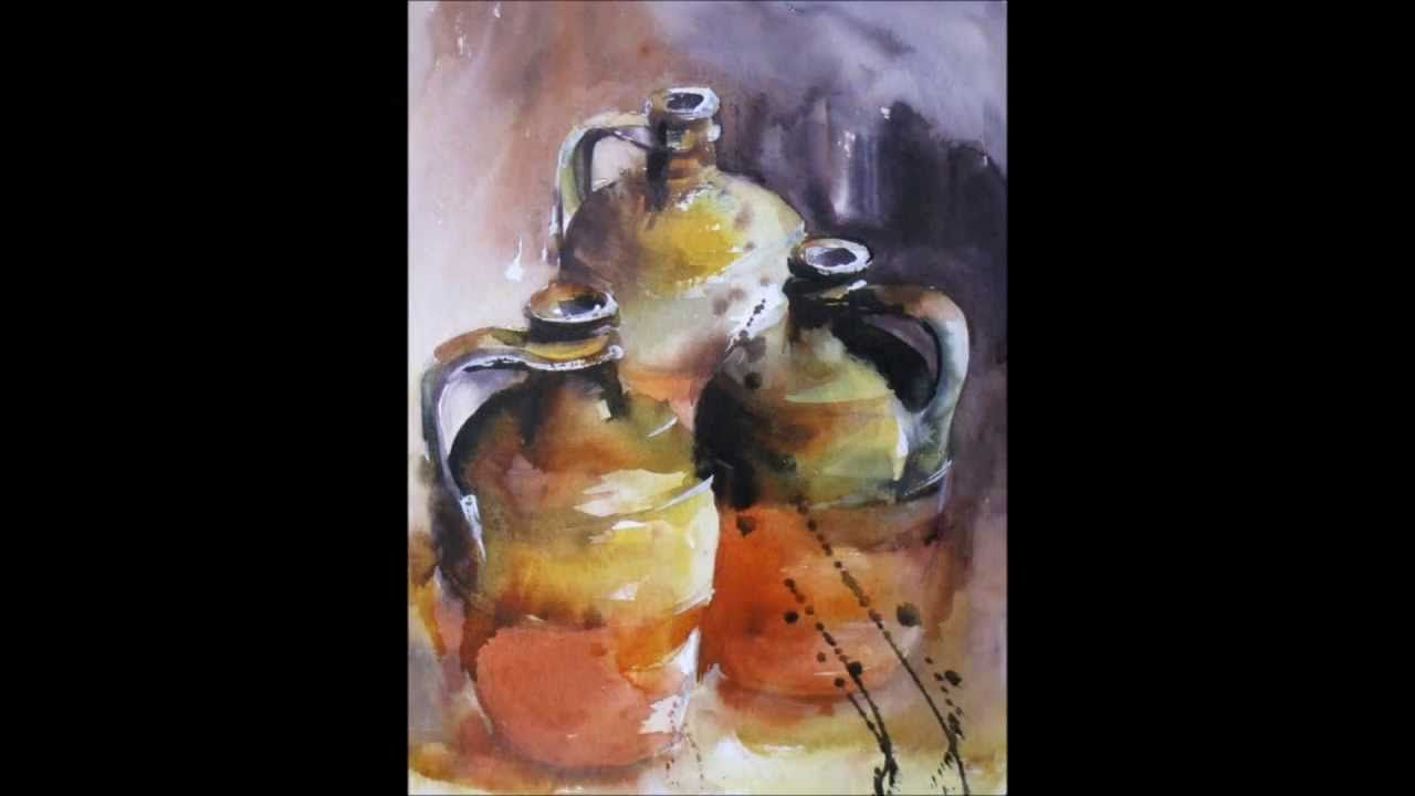 Vendee Pas A Pas L Aquarelle Poterie Watercolour Tutorials