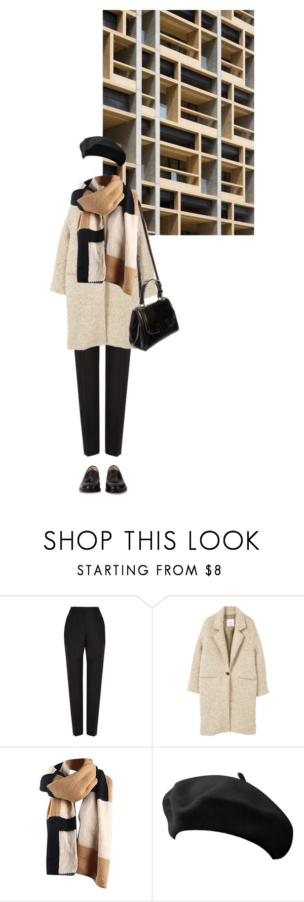 """""""060217"""" by rosemarykate ❤ liked on Polyvore featuring Balenciaga, MANGO, Fendi and Christian Louboutin"""