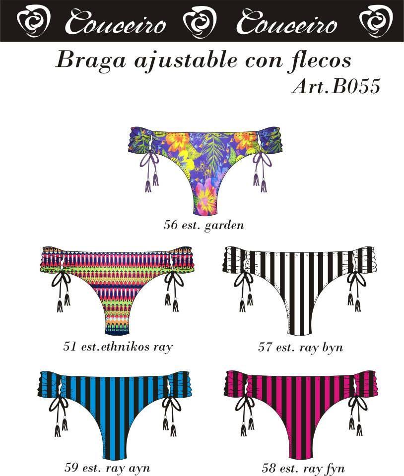 Braga ajustable con flecos.