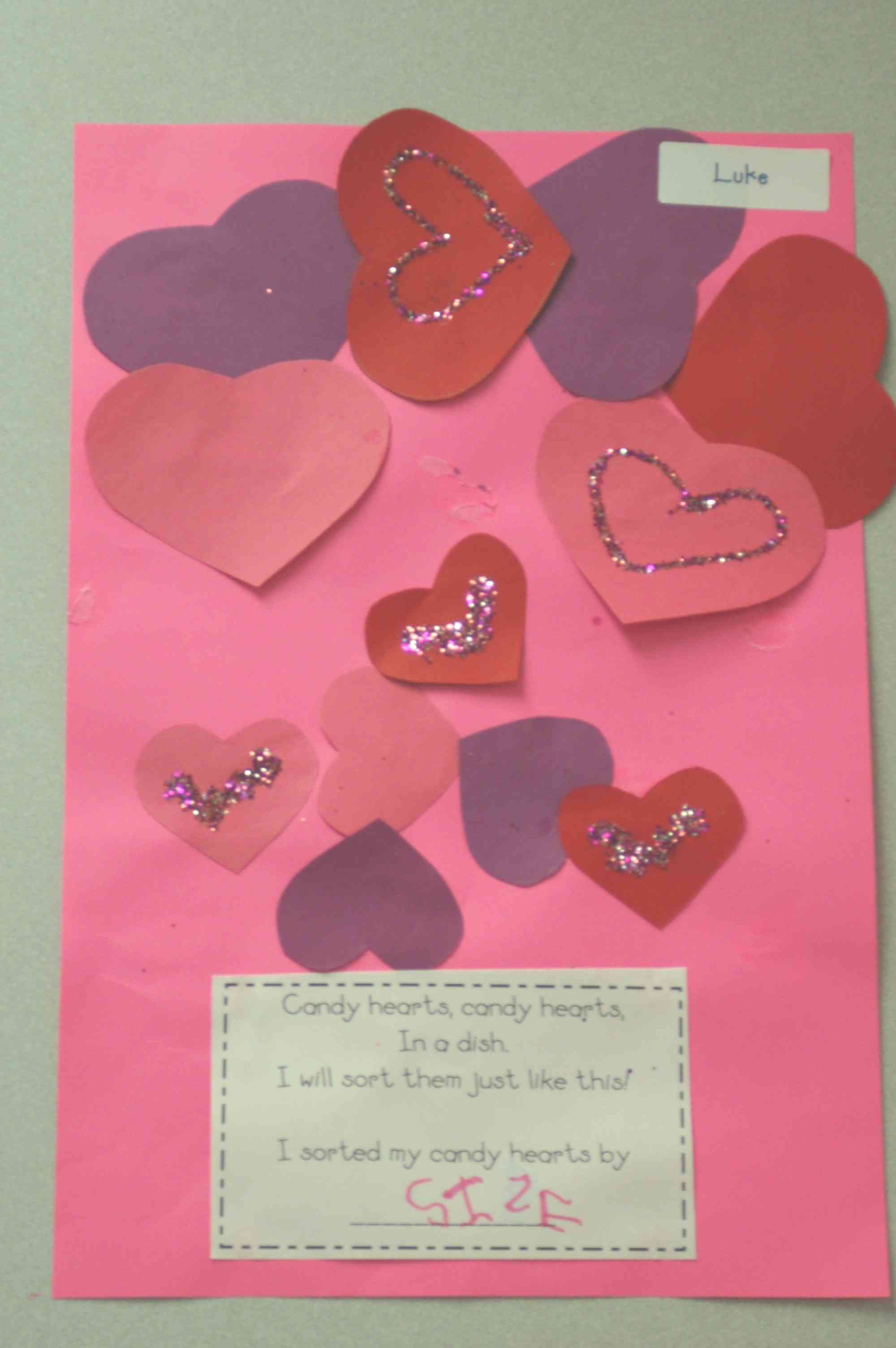 Candy Hearts Sorting Activity