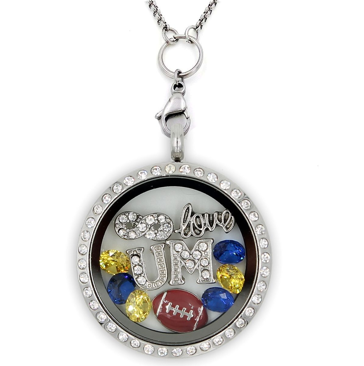 Infinity love michigan football charm necklace order here ududue