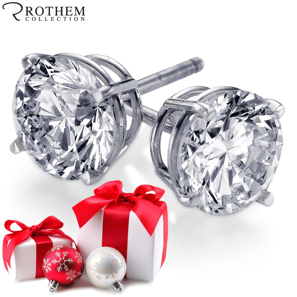 Pin on Diamond Earrings by Rothem Collection