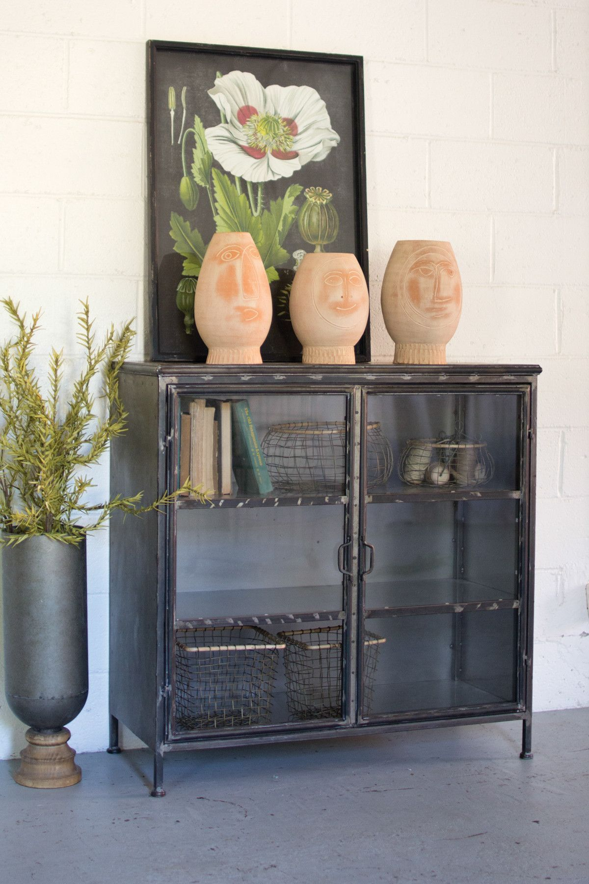 SHORT IRON AND GLASS APOTHECARY CABINET | Future home :3 ...