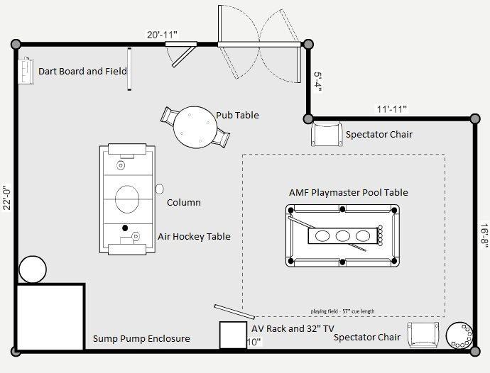 Game Room Floor Plan Pool Table Room Game Room Room Flooring
