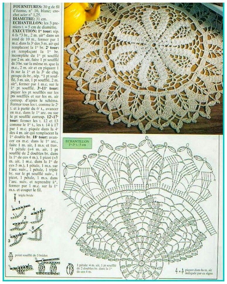 Pin by НаталиЯ on Салфетки   Pinterest   Crochet doilies, Crochet ...