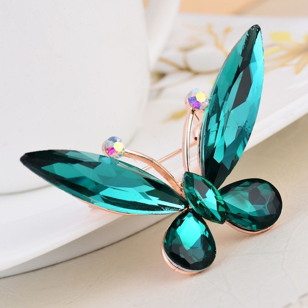 Unique Design Rhinestone Butterfly Brooch Trendy Rhinestone Brooch ...