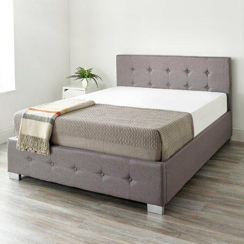 Swell Eastway Upholstered Ottoman Bed 17 Stories Colour Grey Inzonedesignstudio Interior Chair Design Inzonedesignstudiocom