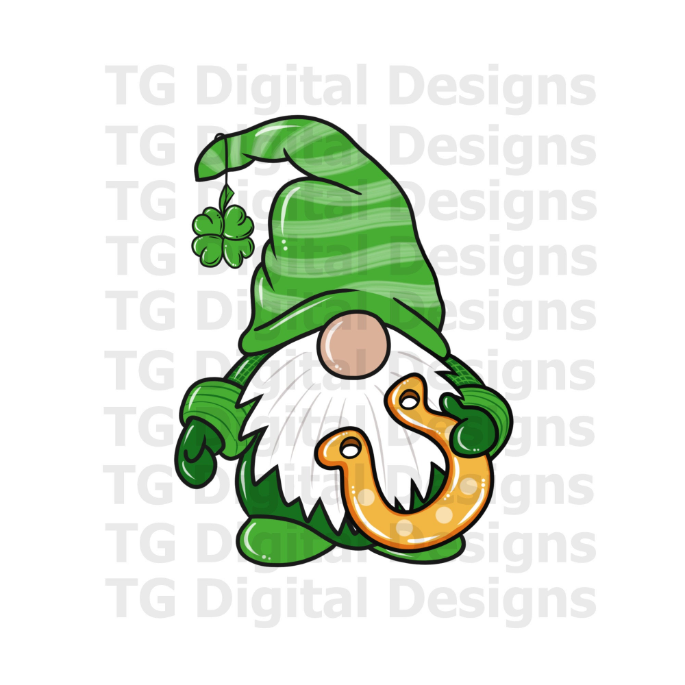Download St Patricks Day Gnome PNG File Sublimation Shirt Tshirt ...
