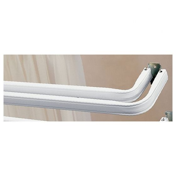 Kirsch Lockseam Double Curtain Rod With 2 Inch Clearance Double