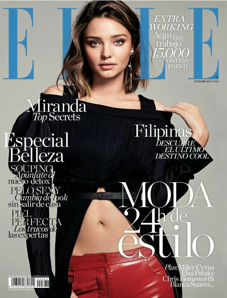 Miranda Kerr in Louis Vuitton photographed by Nino Muñoz for Elle Spain November 2016