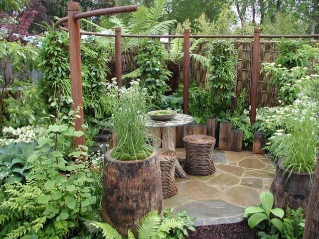 patios y jardines peque os rusticos jardin pinterest