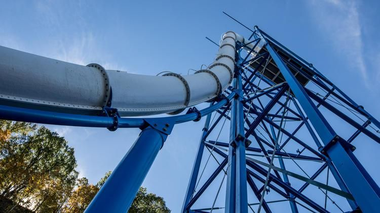 Action Park Sky Caliber Waterslide Will Fire Victims 50 Mph Into A Loop De Loop Actionpark Danger Waterslide Wtf