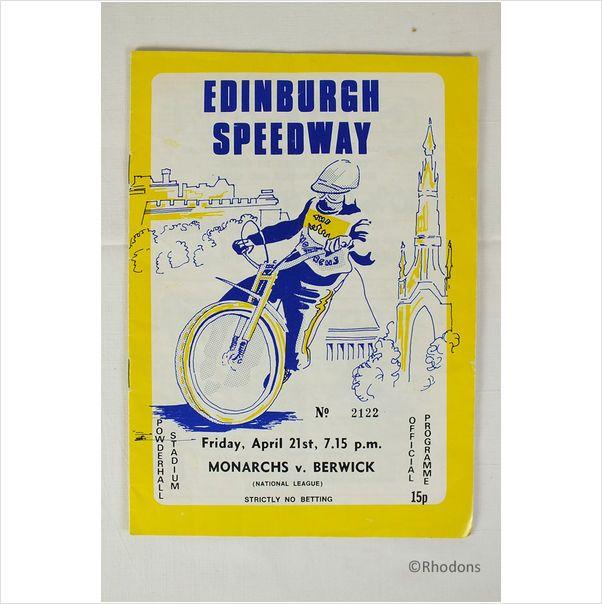 1970's Edinburgh Speedway Programme - 21st April 1978 (#2122) on eBid United Kingdom