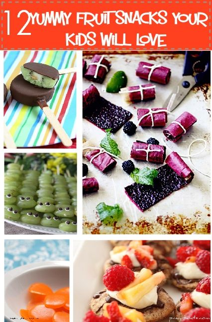 12 Yummy Fruit Snacks Your Kids Will Love - We are fruit lovers in our home, you're going to enjoy these recipes!  All of these are easy recipes perfect for after school snacks, lunch or dessert!