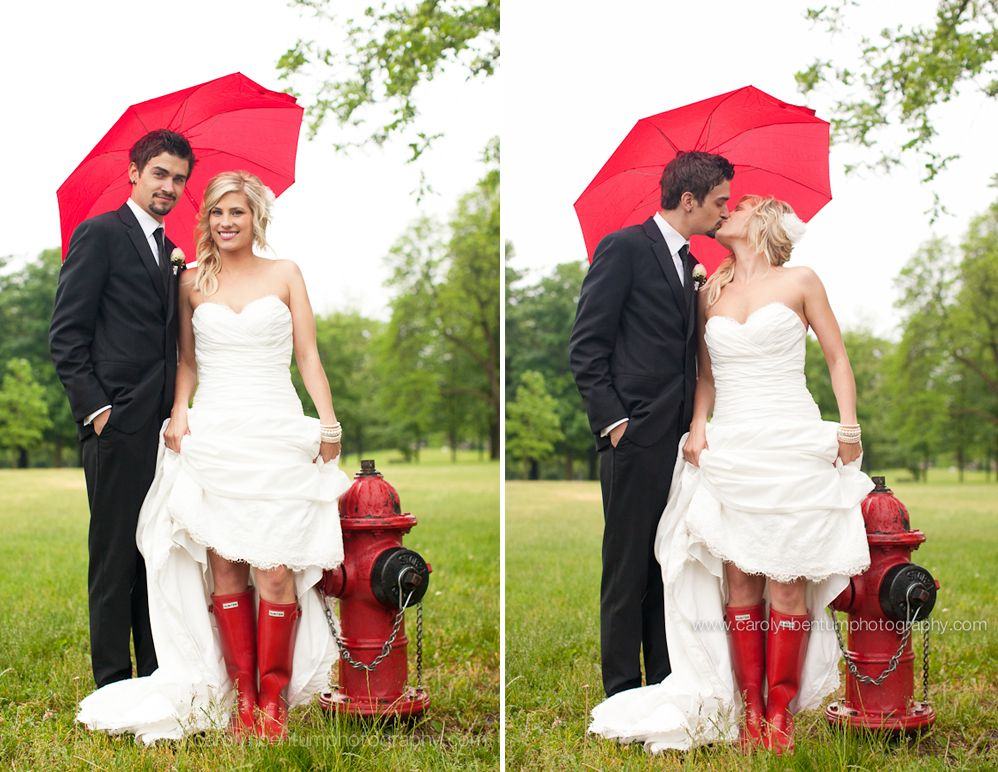 Love these hunters with a wedding dress