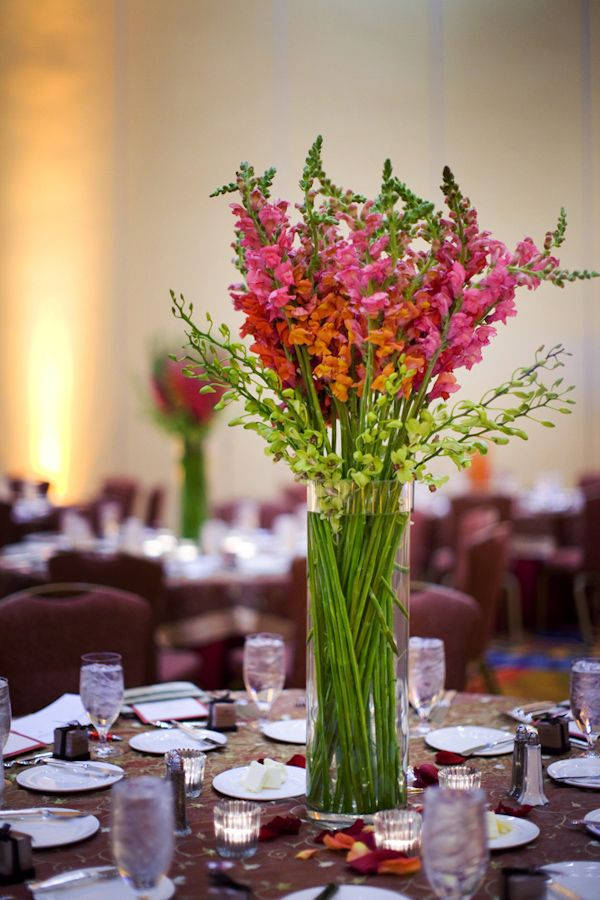 bouquet for wedding ideas pink and orange snapdragon centerpiece wedding photo by 2024
