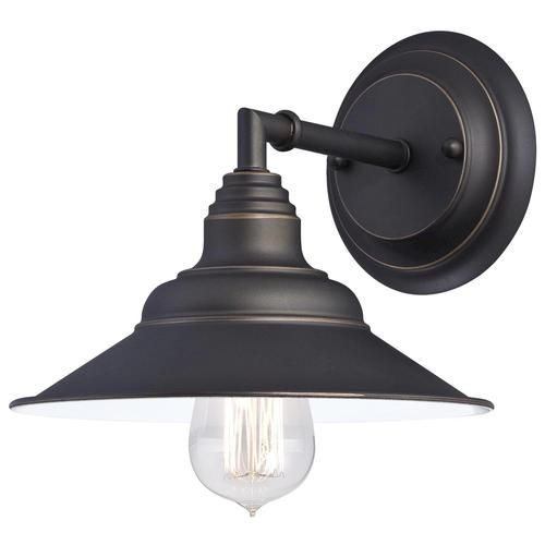 Bathroom Sconces Menards westinghouse deansen oil rubbed bronze 1-light wall light at