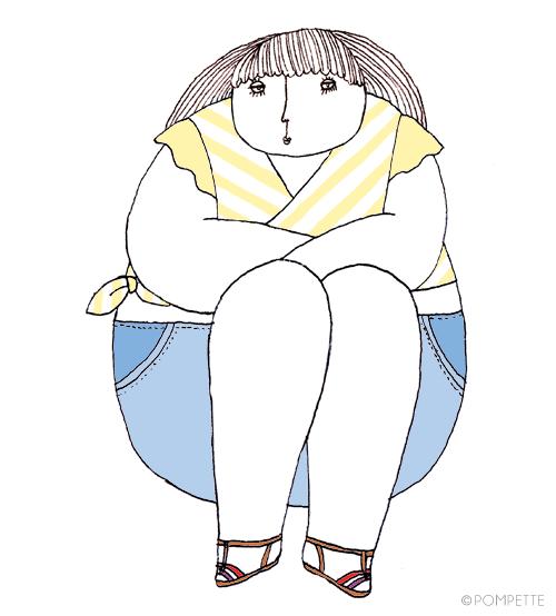 ♡Hannah, illustration by POMPETTE