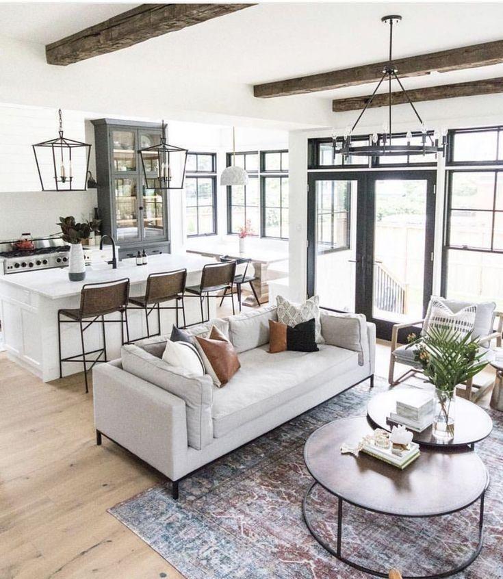 Photo of 44 Inspirierende Ideen für modernes offenes Wohnzimmerdesign – Wohnaccessoires Blog