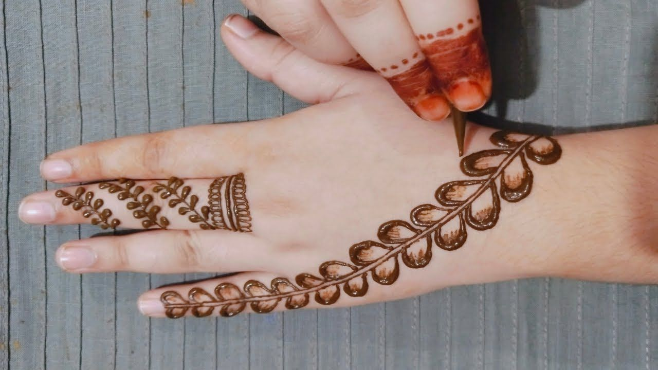 Simple Mehndi Design For Back Hand Stylish Beautiful Mehndi Design For Mehndi Art Designs Simple Mehndi Designs Mehndi Designs