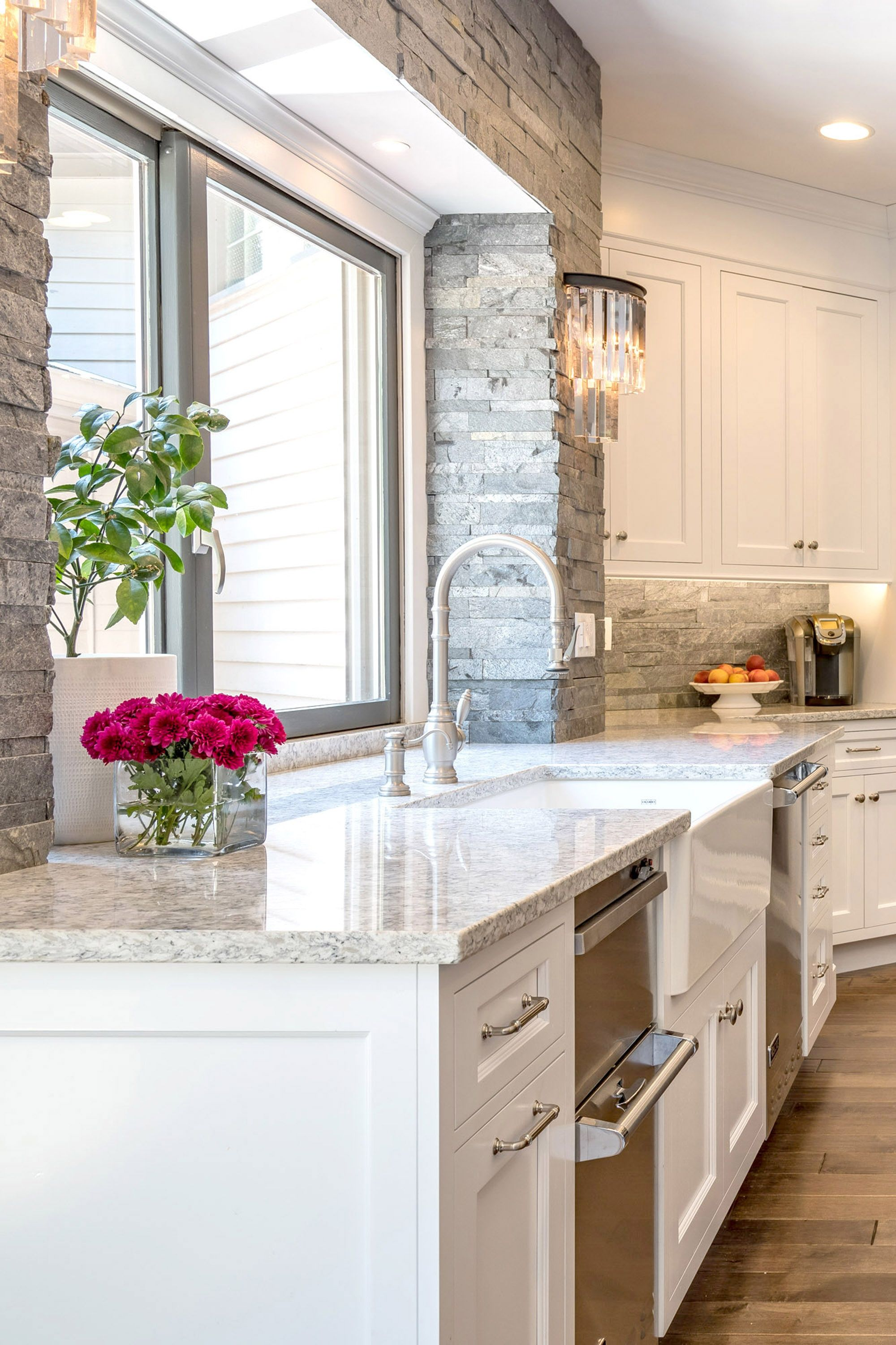 Traditional Gray and White Kitchen in Cheshire, CT | The ...