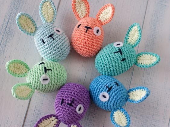 Patrón orejas de ovoconejo de Pascua | Ganchillo | Pinterest ...