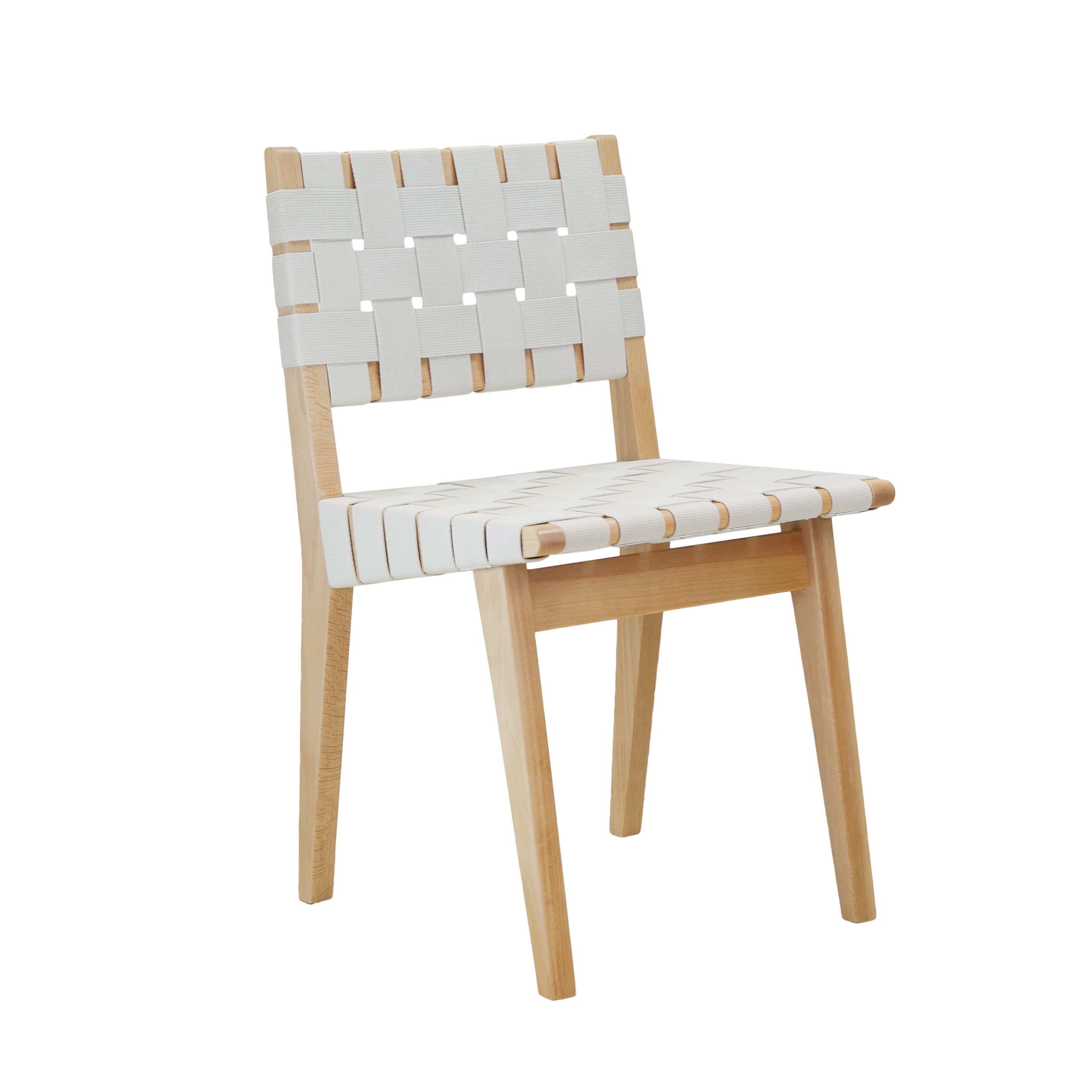 The Cotton Weave Dining Chair in White is pact and practical as