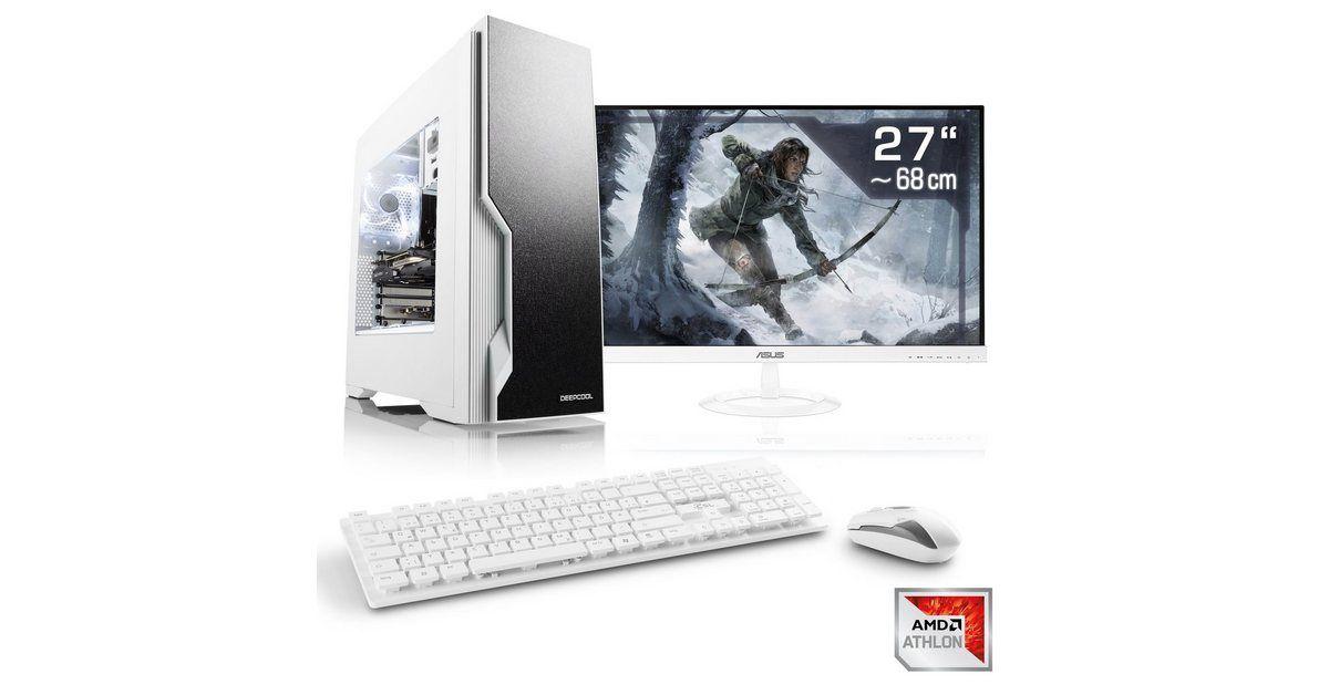 Gaming PC Set Athlon X4 950, GTX 1650, 16GB RAM, SSD, TFT »Sprint T4762 Windows 10 Home« #windows10
