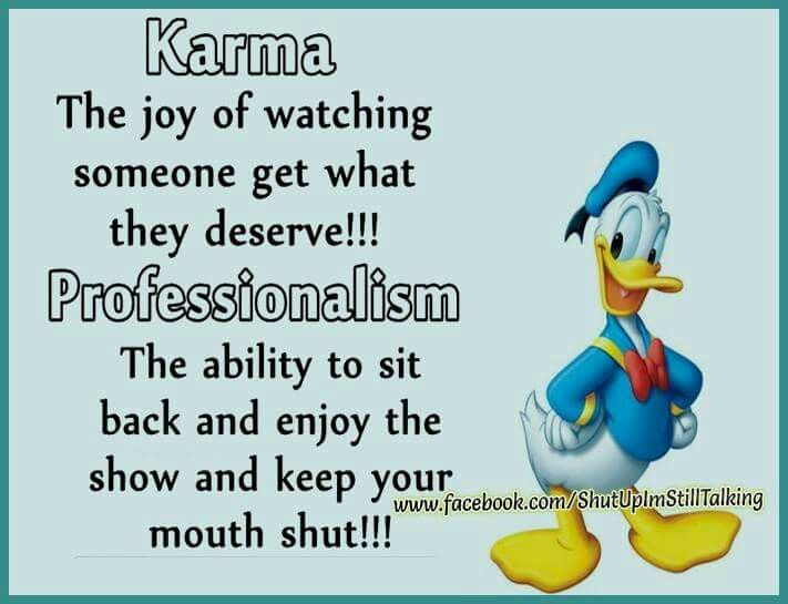 Karma Professionalism Funny Thoughts Sarcastic Quotes Funny