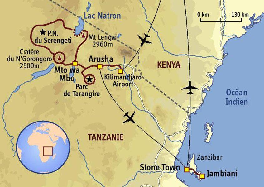 carte Tanzanie - Des plaines du Serengeti aux plages de Zanzibar | Voyage tanzanie, Tanzanie ...