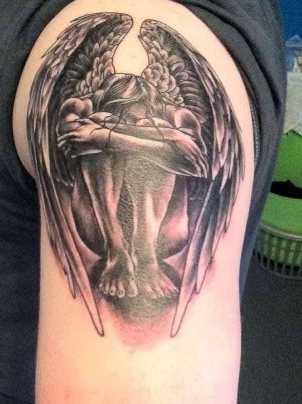 tatouage ange gardien pour femme recherche google fallen angel pinterest tatouage ange. Black Bedroom Furniture Sets. Home Design Ideas