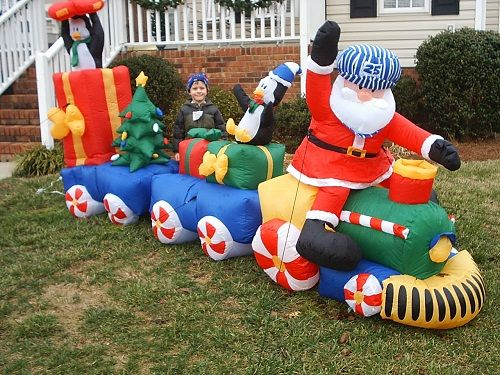 christmas inflatable carousel - Google Search Christmas blow ups - christmas blow up decorations