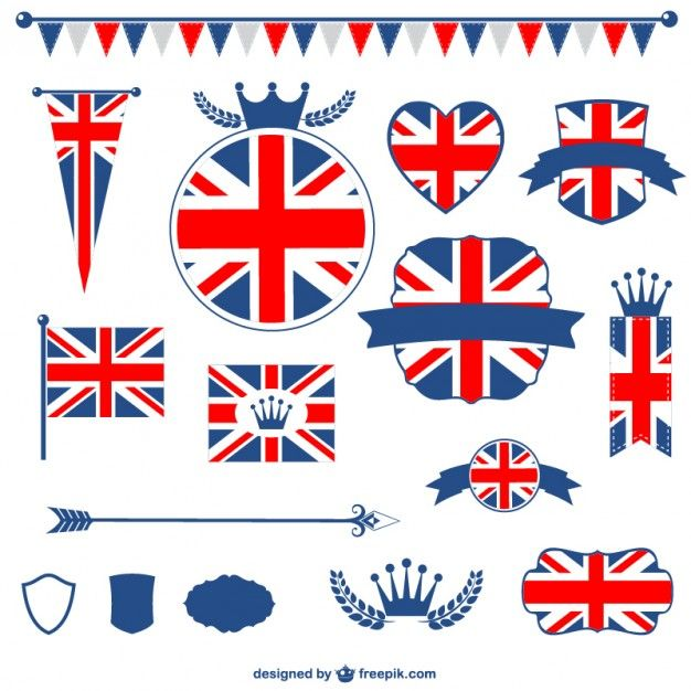 Baixe Bandeira De Reino Unido Elementos Graficos Gratuitos