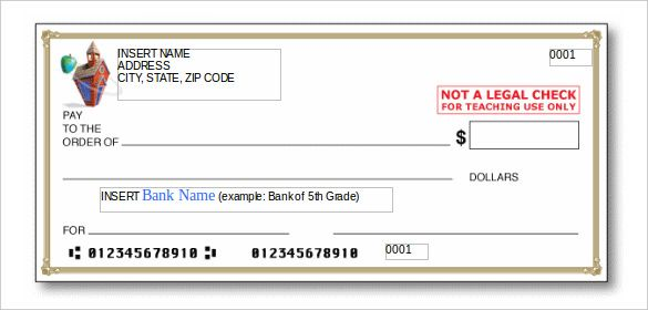 24 Blank Check Template Doc Psd Pdf Vector Formats Blank