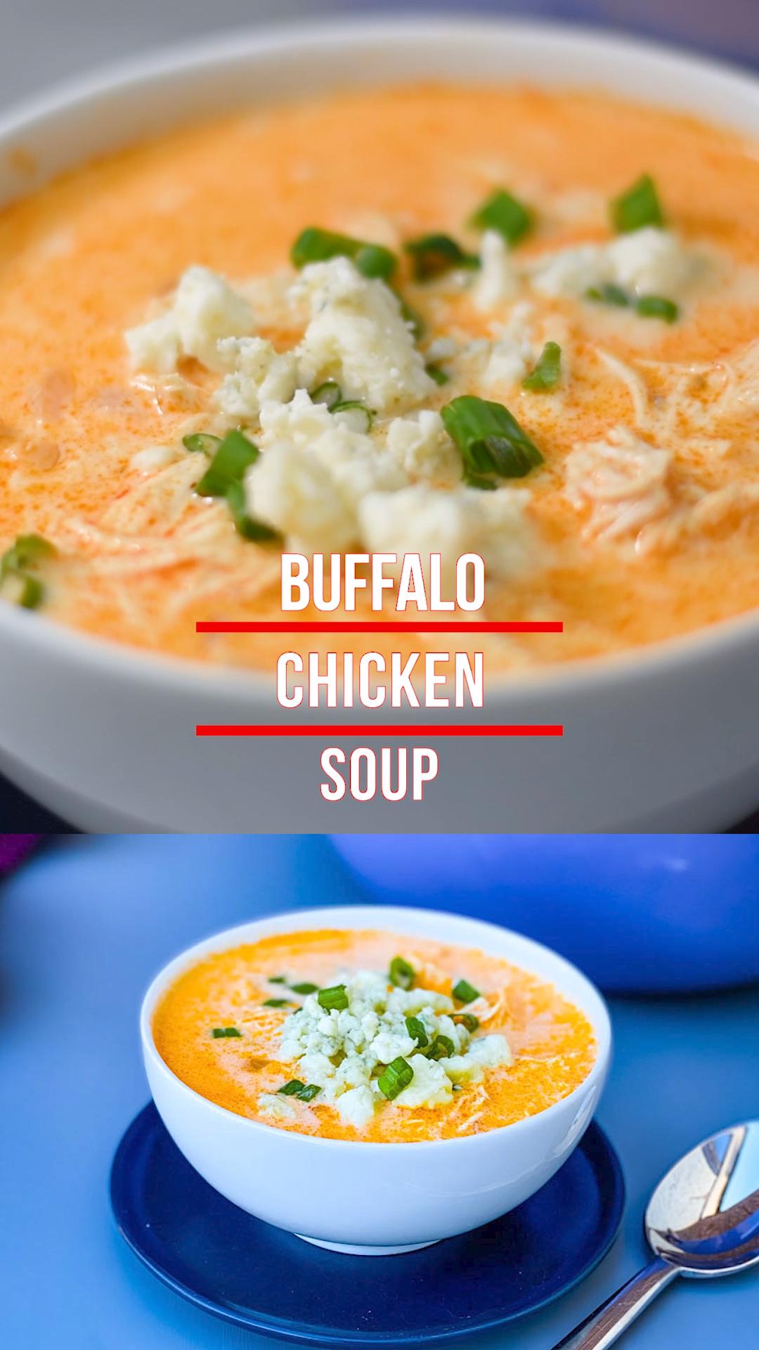 Easy Creamy Buffalo Chicken Soup  K