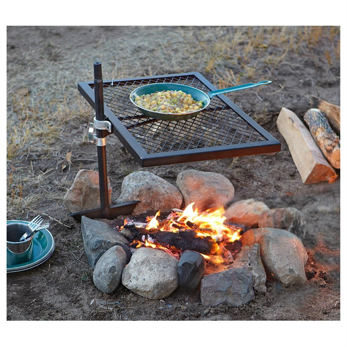 Guide Gear® Swivel Fire Pit Grill $25