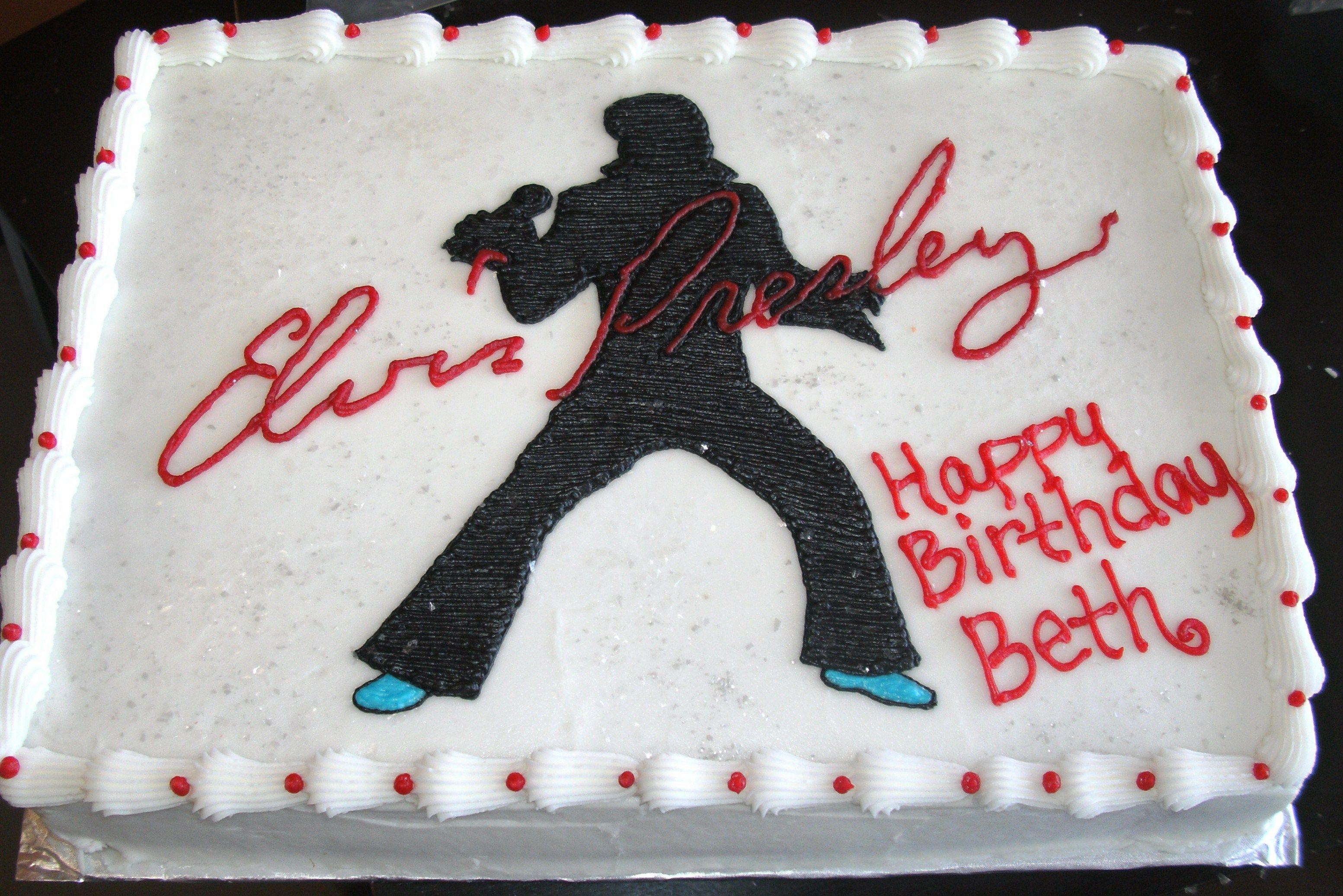 Elvis Presley Birthday Cake For Elvis Fan Cakes Pinterest