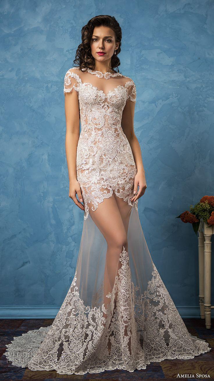Awesome wedding dresses amelia sposa bridal short sleeves