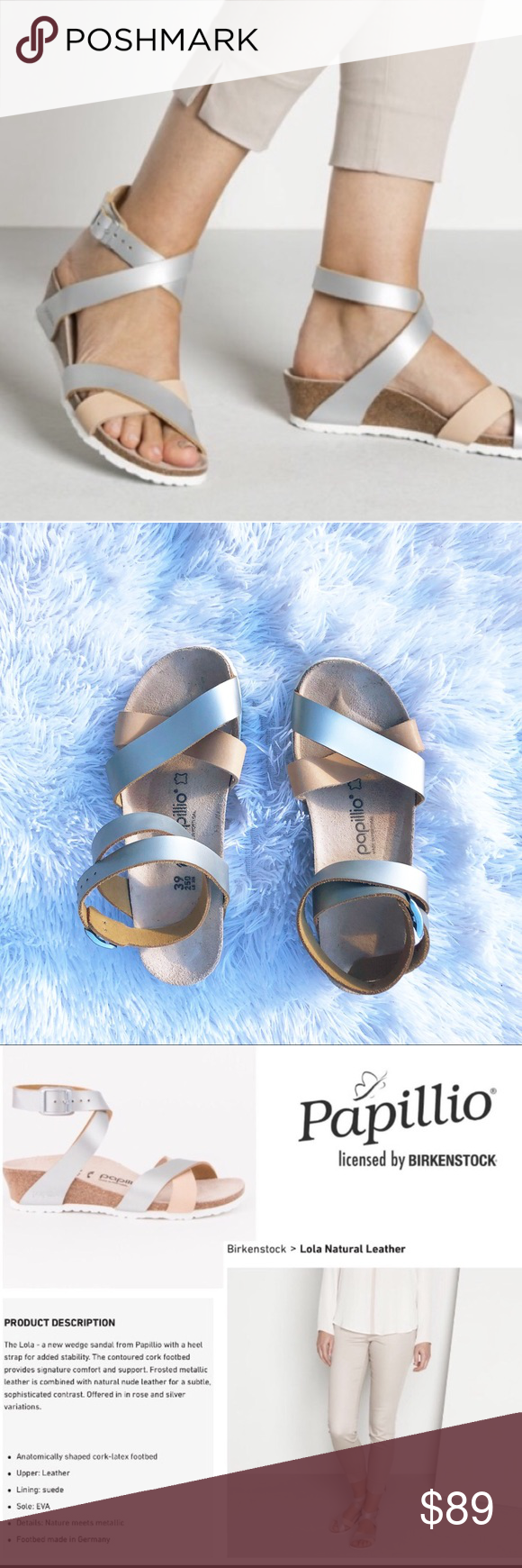 a57e6fe5a Birkenstock Papillio Lola Leather Ankle Strap 39 Add a little charm to your  look wearing the
