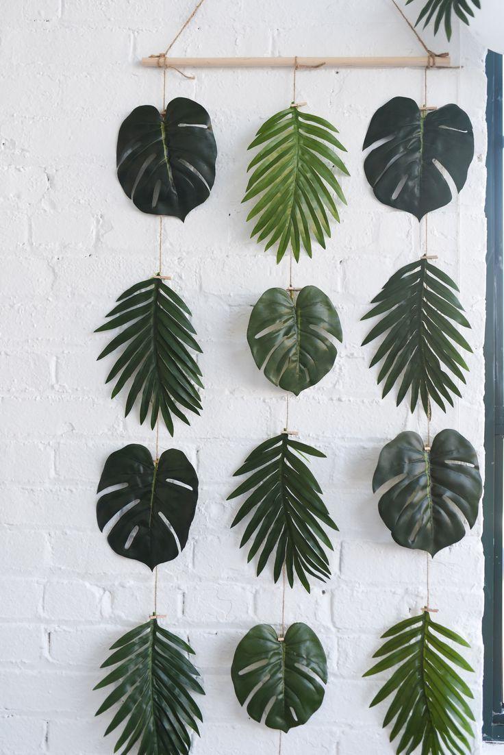 DIY Palm Leaves Wanddekoration! Es ist perfekt für Geburtstage, Duschen, Jungge…