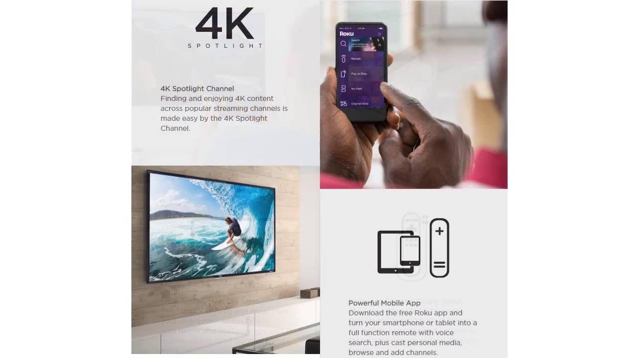 New TCL 43UP130 43-Inch 4K Ultra HD Roku Smart LED TV (2016 Model