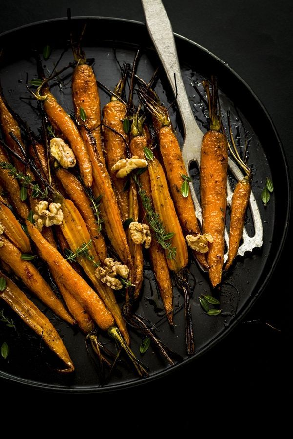 Carote al forno in agrodolce // honey roasted carrots