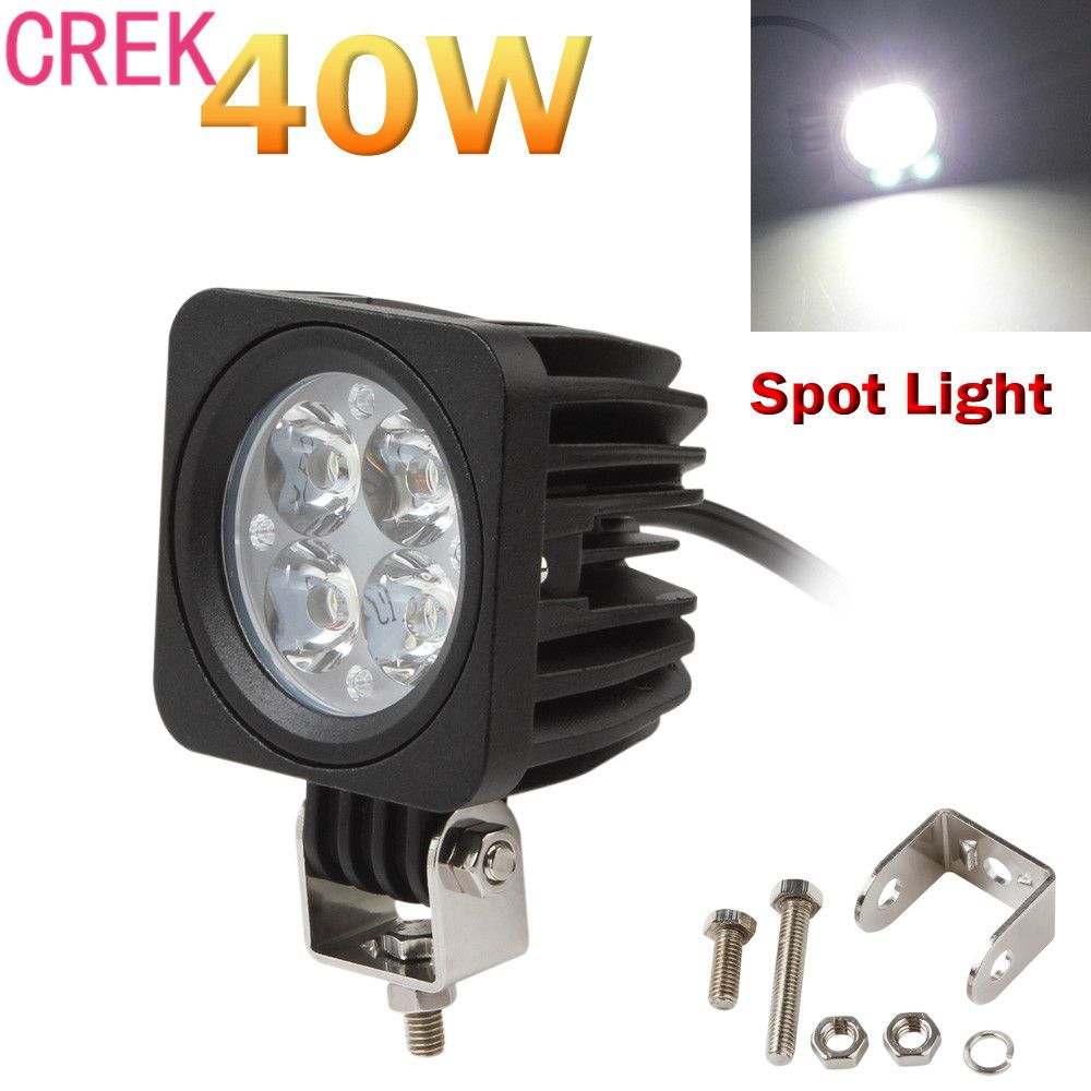 Crek 40w 3000lm 4 Led Each Modular Work Lamp Spot Light For Offroad Atv Truck Suv Universal For 12v And 24v Power Sources Work Lamp Car Lights Work Lights