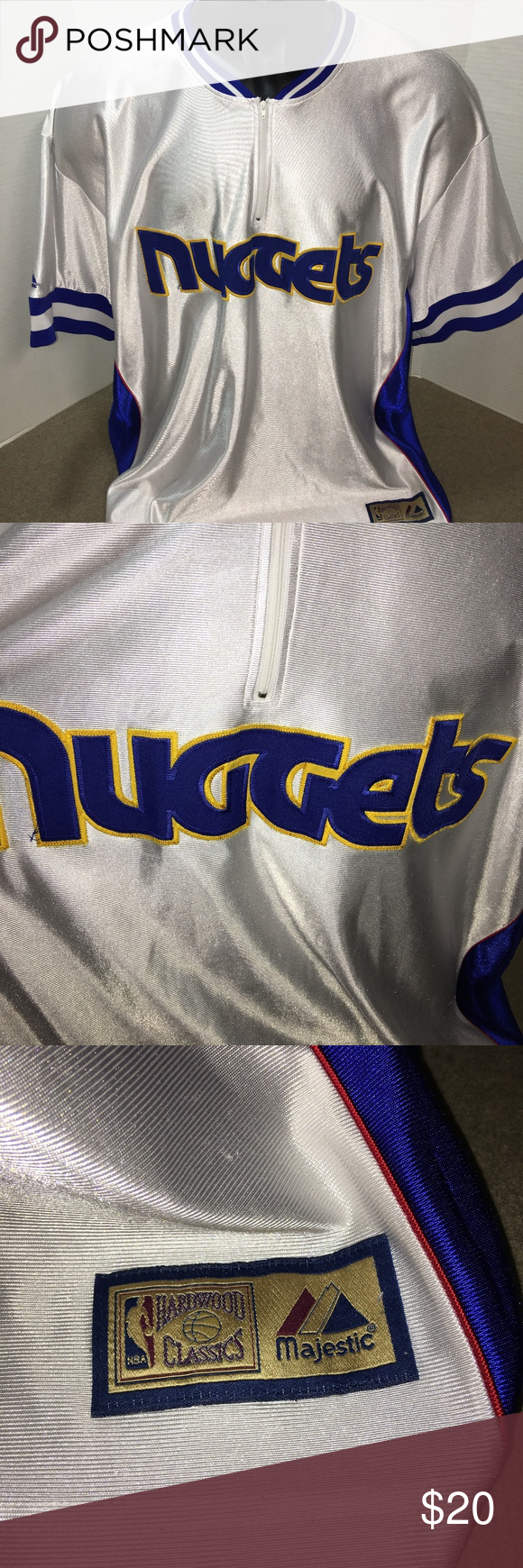 the best attitude 70b8d 99872 Majestic Denver Nuggets Warm Up Shirt Mens 3X Awesome Mens ...