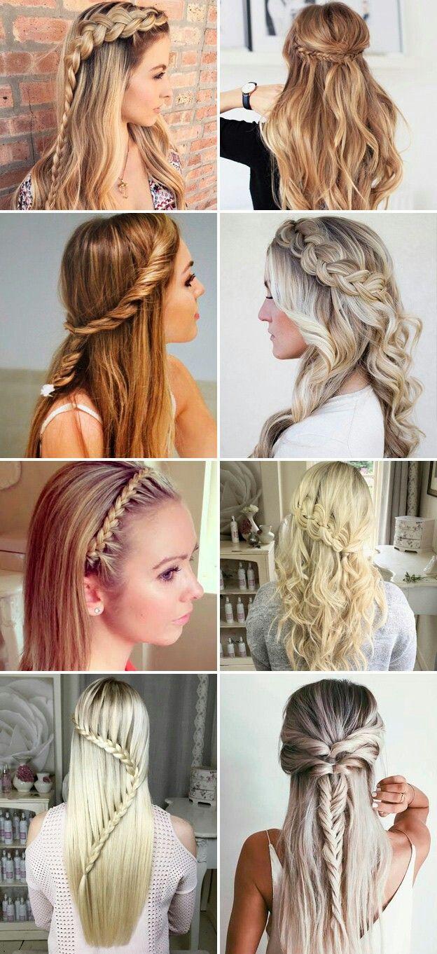 Pin By Lauren Biggs On Coiffures Easy Hairstyles For Long Hair Medium Hair Styles Heatless Hairstyles