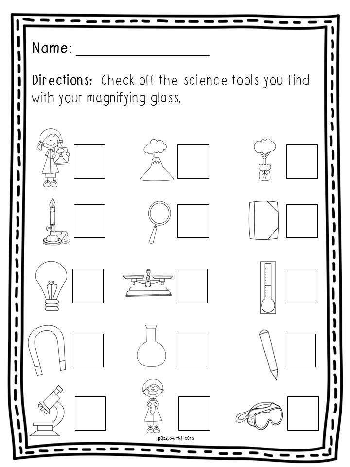 Science Tools Freebie With Images Kindergarten Science